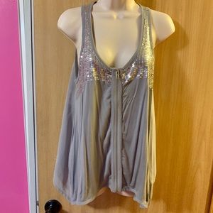 Alluring Grey with Bling top